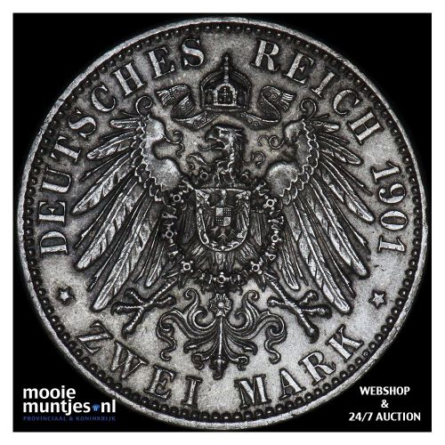 2 mark - German States/Prussia 1901 (KM 525) (kant A)