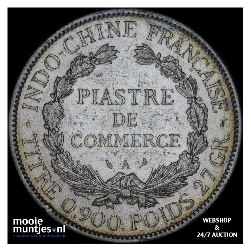 piastre - French Indo-China 1904 (KM 5a.1) (kant B)
