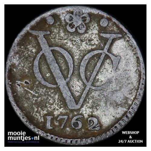 VOC 1/2 duit - Holland - Netherlands East Indies 1762 (KM 72a) (kant A)