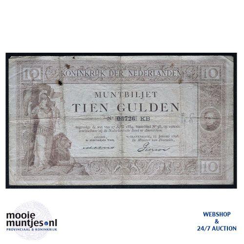 10 gulden  - 1894 (Mev. 34-4 / AV 24) (kant A)