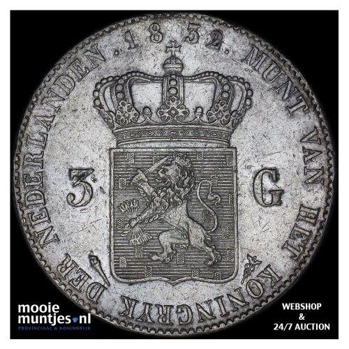 3 gulden - Willem I - 1832 over 21 Utrecht (kant A)