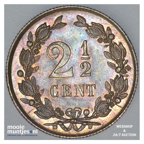 2½ cent - Willem III - 1877 (kant B)