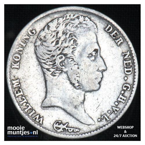 ½ gulden - Willem I - 1822 b Utrecht  (kant B)