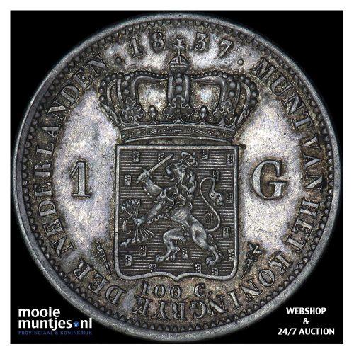 1 gulden - Willem I - 1837 (kant A)