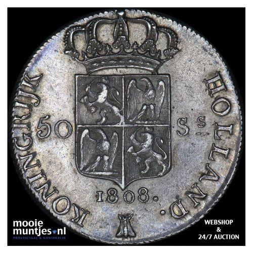 50 stuiver - Lodewijk Napoleon - 1808 (kant A)