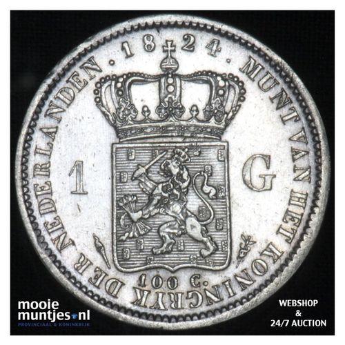 1 gulden - Willem I - 1824 a Utrecht (kant A)