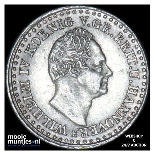 1/12 thaler (3 mariengroschen) - German States/Hannover 1836 (KM 159) (kant B)