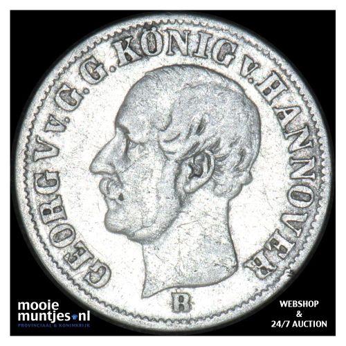 1/12 thaler (3 mariengroschen) - German States/Hannover 1853 (KM 219) (kant B)