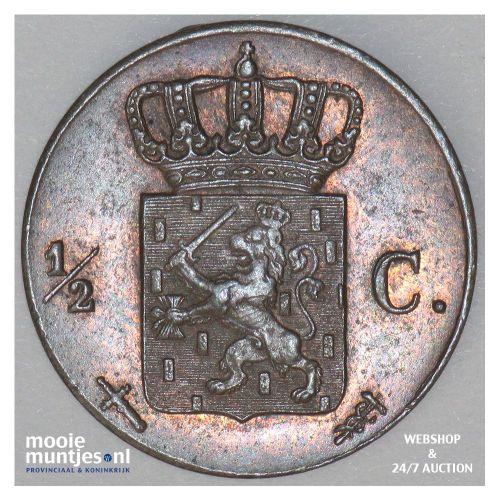 ½ cent - Willem III - 1864 (kant B)