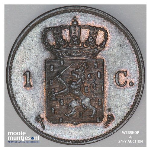 1 cent - Willem III - 1876 (kant B)