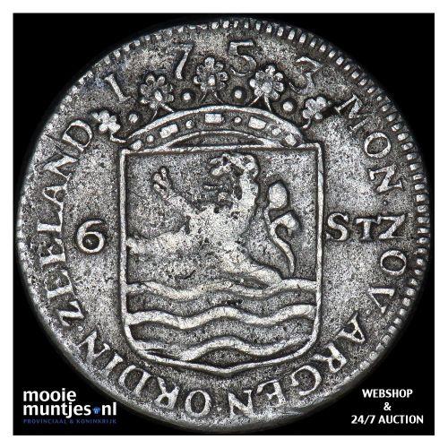 Zeeland - Scheepjesschelling - 1753 (kant A)