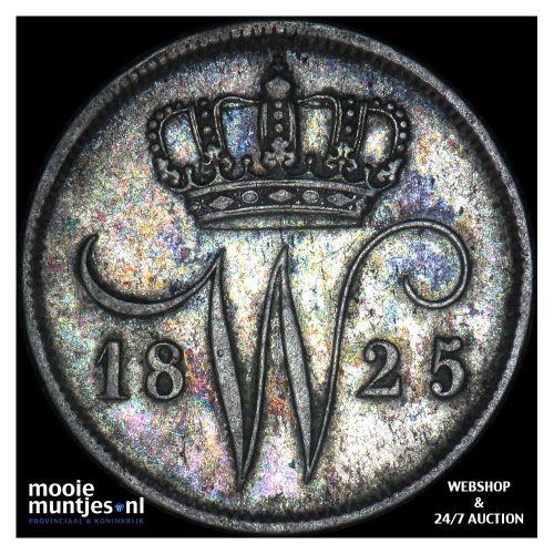 10 cent - Willem I - 1825 Brussel (kant A)