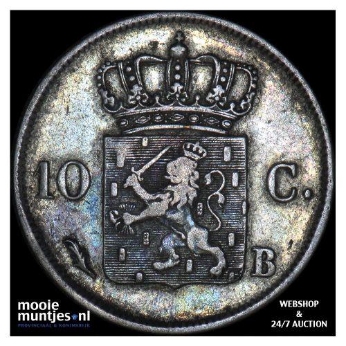 10 cent - Willem I - 1825 Brussel (kant B)