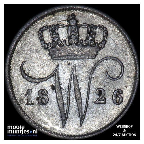 10 cent - Willem I - 1826 Brussel (kant A)