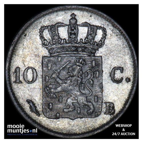 10 cent - Willem I - 1826 Brussel (kant B)