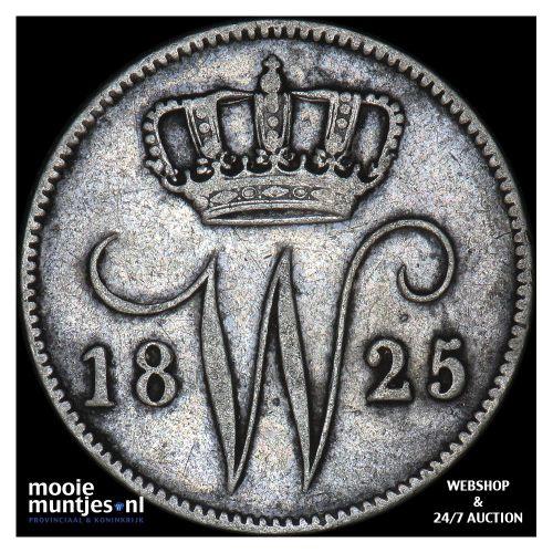 25 cent - Willem I - 1825 Utrecht (kant A)