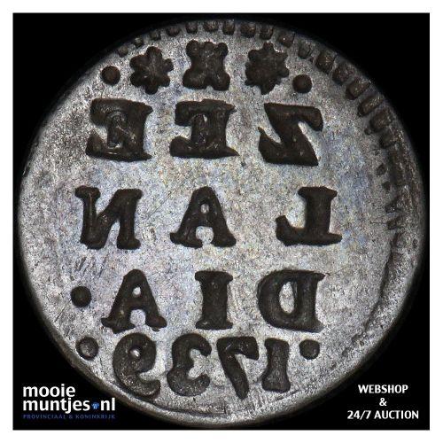 Zeeland - Pijl- of bezemstuiver - 1739 MPO (kant B)