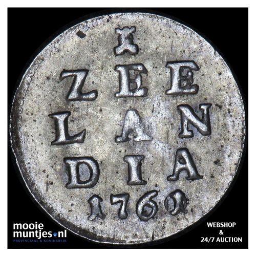 Zeeland - Pijl- of bezemstuiver - 1761 over 60 MPO (kant A)