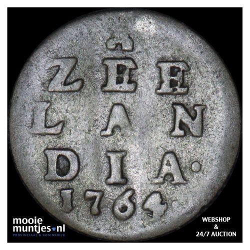 Zeeland - Pijl- of bezemstuiver - 1764 over 63 (kant A)