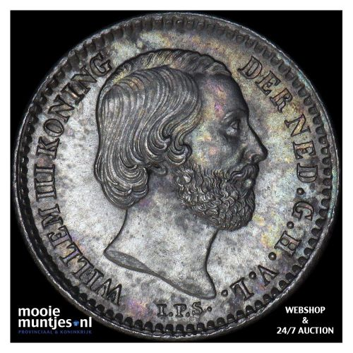 10 cent - Willem III - 1890 (kant B)