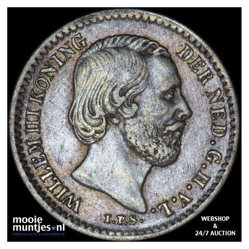 10 cent - Willem III - 1849 (kant B)