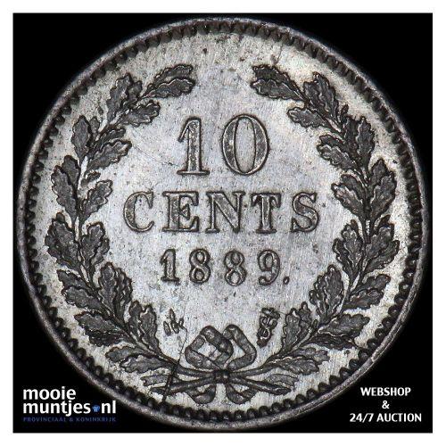 10 cent - Willem III - 1889 (kant A)