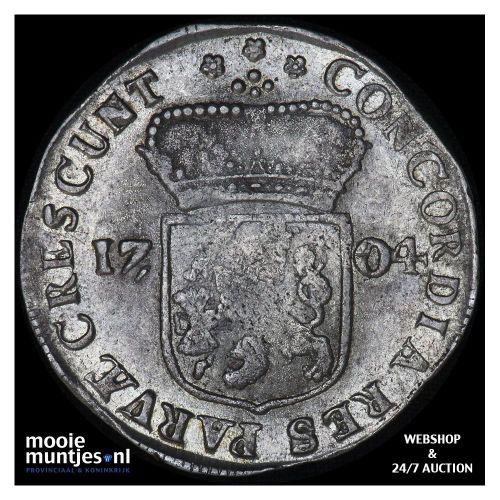 Zeeland - Zilveren dukaat - 1704 (kant A)