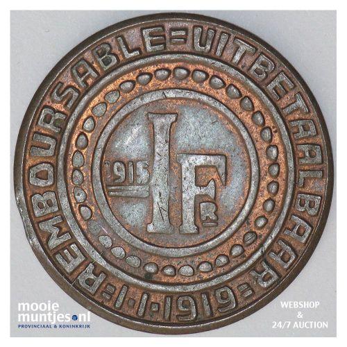 franken - token coinage - Belgium/Ghent 1915 (KM Tn2) (kant A)