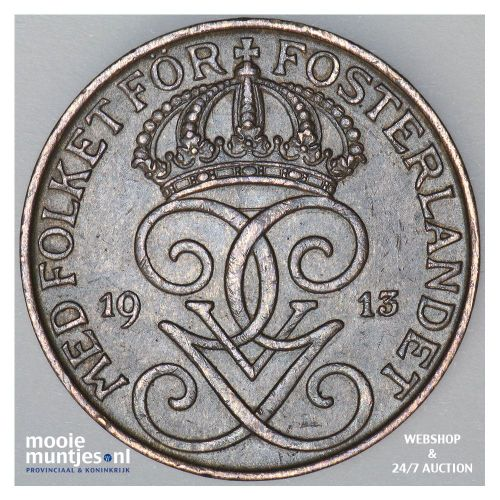 5 ore - Sweden 1913 (KM 779.2) (kant A)