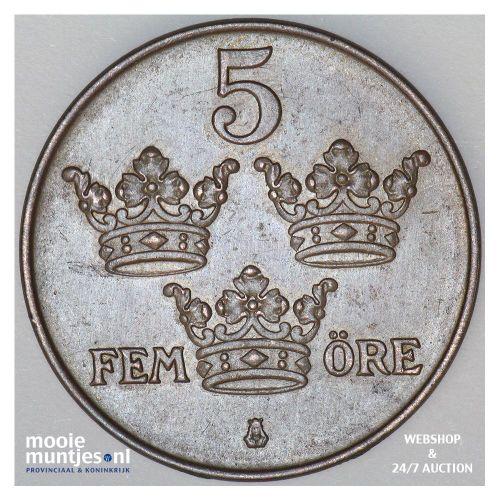 5 ore - Sweden 1919 (KM 779.2) (kant B)