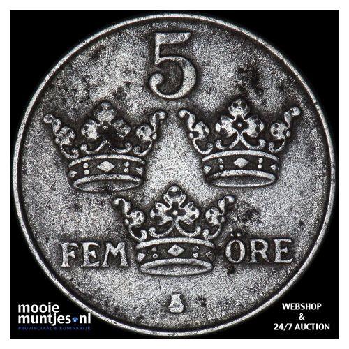 5 ore - Sweden 1917 (KM 791) (kant B)