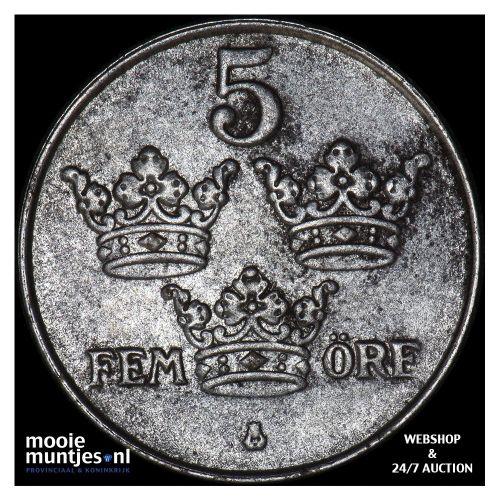 5 ore - Sweden 1918 (KM 791) (kant B)