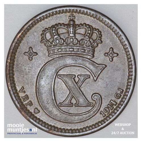 5 ore - Denmark 1914 (KM 814.1) (kant A)