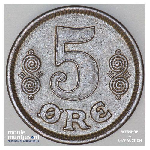 5 ore - Denmark 1914 (KM 814.1) (kant B)