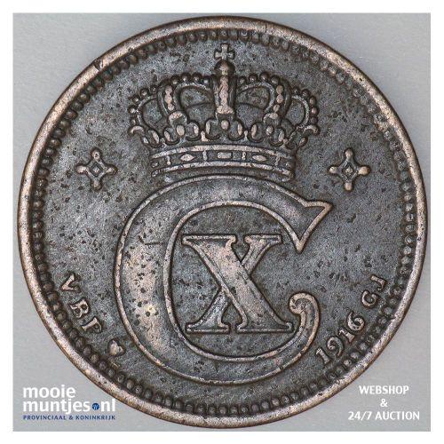 5 ore - Denmark 1916 (KM 814.1) (kant A)