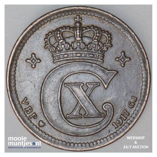 5 ore - Denmark 1917 (KM 814.1) (kant A)