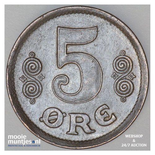 5 ore - Denmark 1917 (KM 814.1) (kant B)