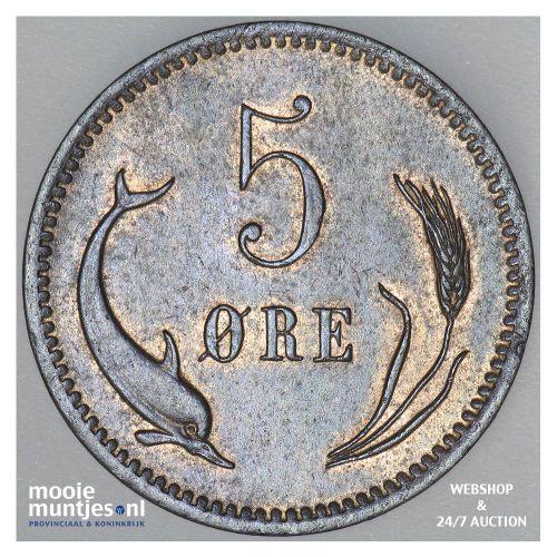 5 ore - Denmark 1874 (KM 794.1) (kant B)