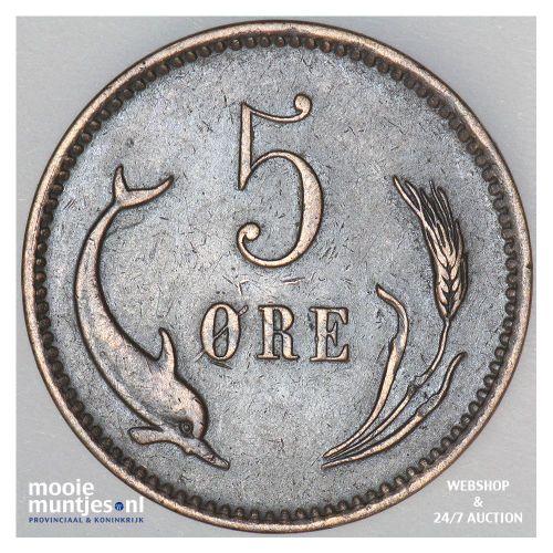 5 ore - Denmark 1875 (KM 794.1) (kant B)