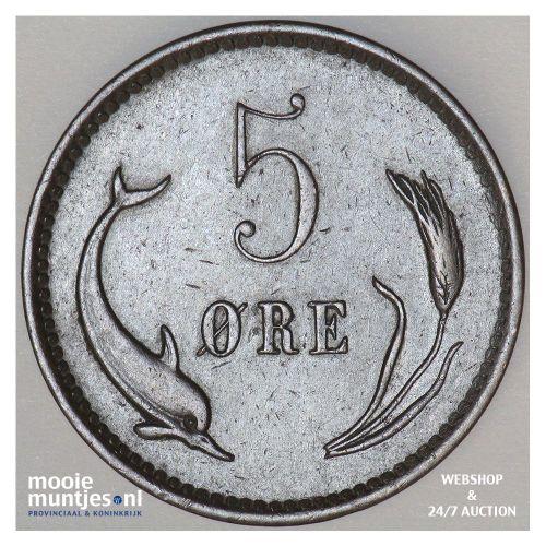 5 ore - Denmark 1884 (KM 794.1) (kant B)