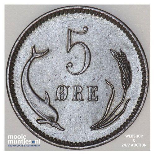5 ore - Denmark 1894 (KM 794.2) (kant B)