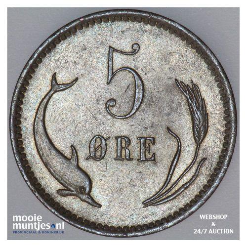 5 ore - Denmark 1899 (KM 794.2) (kant B)