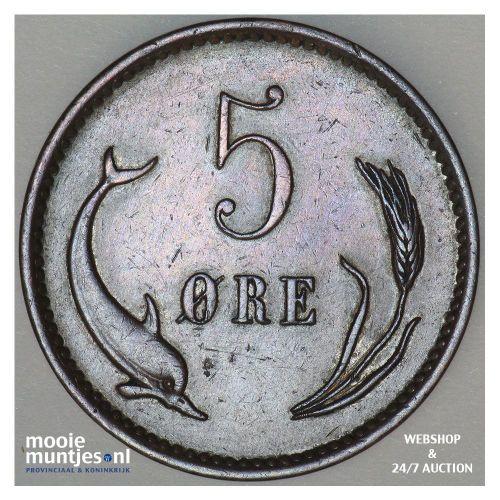 5 ore - Denmark 1902 (KM 794.2) (kant B)