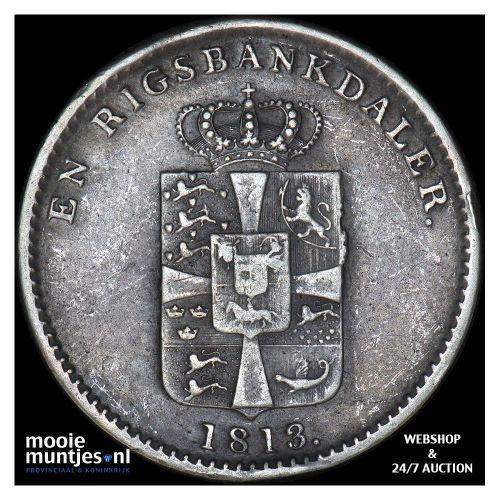 rigsbankdaler - Denmark 1813 IC (KM 683.2) (kant A)