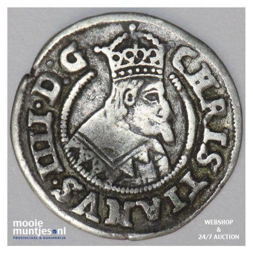1/16 speciedaler (3 skilling lybsk) - Denmark/Gluckstadt 1643 (KM 26) (kant B)