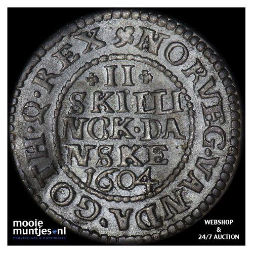 2 skilling - Denmark 1604 (KM 16.1) (kant A)