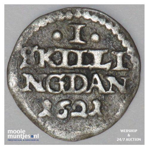 skilling - Denmark 1621 (r) (KM 67) (kant A)