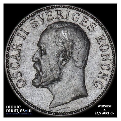 2 kronor - Sweden 1907 (KM 773) (kant B)