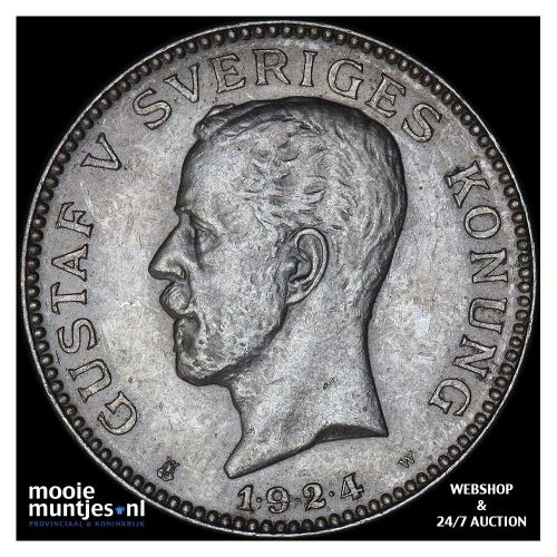 krona - Sweden 1924 (KM 786.1) (kant A)