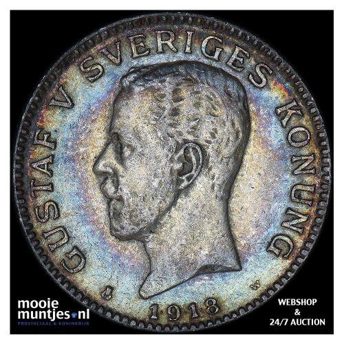 krona - Sweden 1918 (KM 786.1) (kant A)